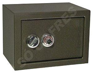 SOB ENCOMENDA - Cofre Mecânico MEC 25 - Segredo e Volante - A 25 X L 35 X P 25 - para Fixar
