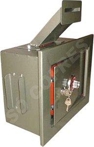 Cofre Mecânico MEC 15EC de Embutir com Boca de Lobo - Segredo e Chave - A 25 X L 30,5 X P 15