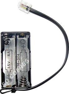 """Kit de Emergência RJ11 para cofre eletrônico Gold Safe - para 4 pilhas """"AA"""""""
