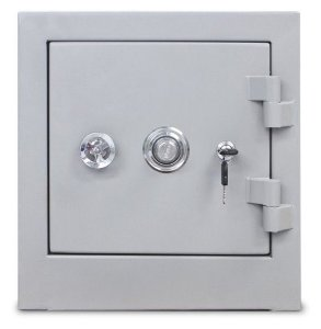 SOB ENCOMENDA - Cofre Concretado MEC 40C - Altura 40 X Largura 38 X Profundidade 35 cm - Segredo, Chave e Volante