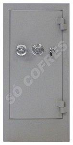 SOB ENCOMENDA - Cofre Concretado MEC 80C - Altura 80 X Largura 38 X Profundidade 35 cm - Segredo, Chave e Volante