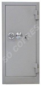 SOB ENCOMENDA - Cofre Concretado MEC 100C - Altura 96 X Largura 44 X Profundidade 38 cm - Segredo, Chave e Volante