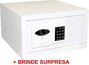 LANÇAMENTO - Cofre Eletrônico Silver - A 23,5 X L 37,5 X P 40 - Múltiplos Usuários e Auditoria + Brinde Surpresa