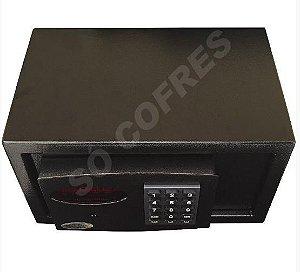 Cofre Eletrônico Box Black com Painel Digital e Auditoria - Alt 16 X Larg 30 X Prof 25