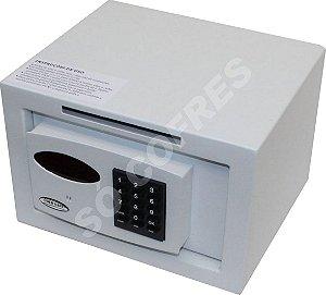 Cofre Eletrônico Personal com Boca de Lobo - A 20 X L 30 X P 25 -  com Coletor Frontal, Painel Digital e Auditoria