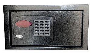 Cofre Eletrônico Office Black - A 24 X L 41 X P 30 - com Luz Interna e Auditoria