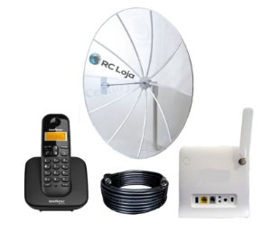 Kit Internet Rural Alto Ganho 190cm 800/900Mhz
