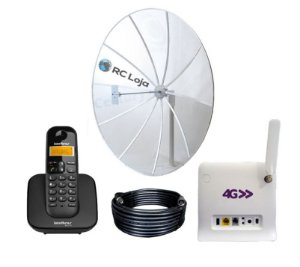 Kit Rural Internet Alto Ganho 230cm 800/900Mhz