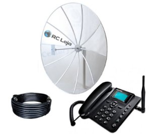 Kit Telefone Rural 190cm 800/900mhz