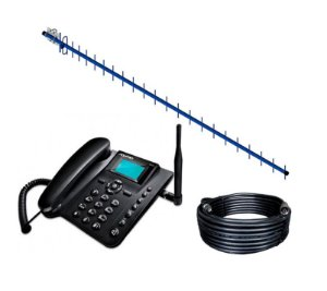 Kit Telefone Rural  Antena 22dbi