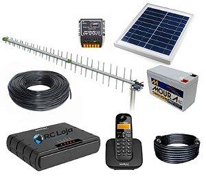 Interface Celular Rural Com Fio 1,5km Com Sistema Solar