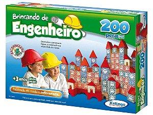 Brincando de Engenheiro 200 pçs (Madeira)