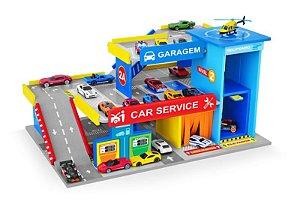 Postinho E Garagem Car Service Madeira Para Hotwheels - Junges