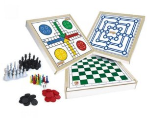 Jogo 4x1- Xadrez, Damas, Ludo E Trilha
