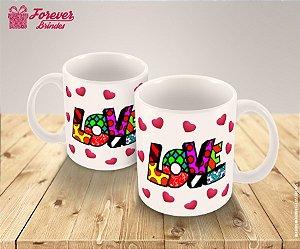 Caneca De Porcelana Love