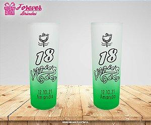 Copo Long Drink Degradê Neon 18 bday