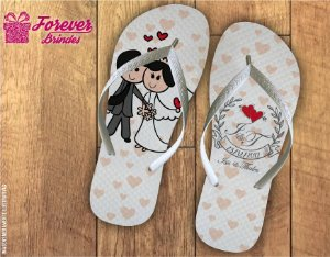 Chinelo De Casamento Corações