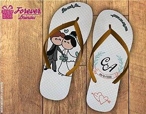 Chinelo De Casamento Caricatura