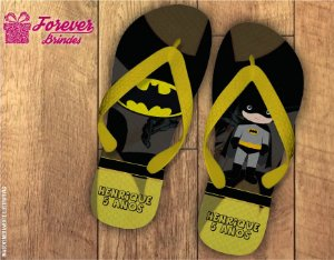 Chinelo De Aniversário Infantil Batman Menino