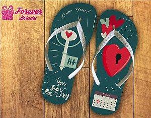 Chinelo Dia Dos Namorados Chave Do Coração