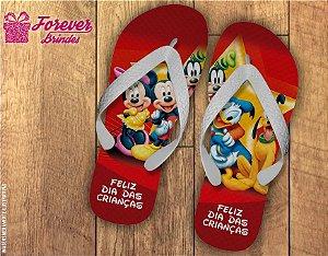 Chinelo Dias Das Crianças Mickey e Turma