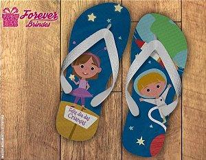 Chinelo Dias Das Crianças Bailarina e Astronauta