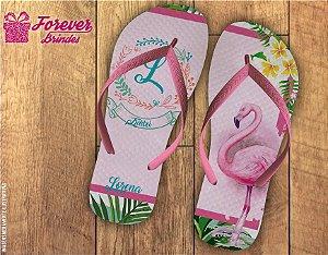 Chinelo De Aniversário de 15 Anos Flamingo
