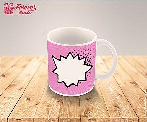 Caneca Porcelana personalizada rosa com Foto