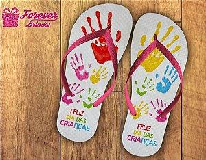 Chinelo Dia Das Crianças Mãos Pintadas