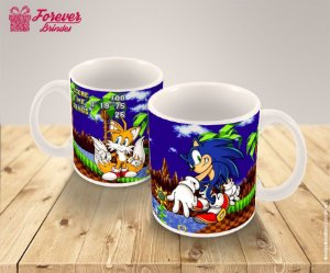 Caneca De Porcelana Do Sonic Game