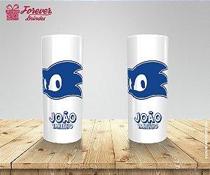 Copo Long Drink Rosto Do Sonic