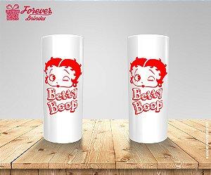 Copo Long Drink Rosto Da Betty Boop