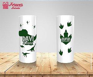Copo Long Drink Pegadas De Dinossauro