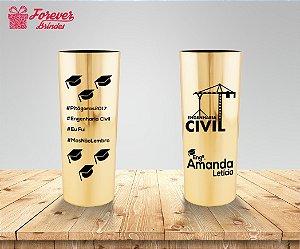 Copo Long Drink Metalizado Engenharia Civil Capelo