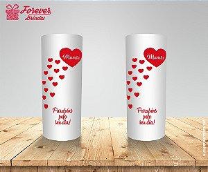 Copo Long Drink Dia Das Mães Corações