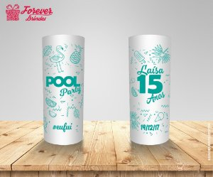 Copo Long Drink 15 Anos Pool Party