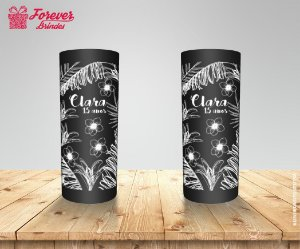 Copo Long Drink 15 Anos Floral