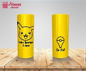 Copo Long Drink Aniversário Rosto Pikachu