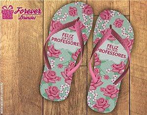 Chinelo Dia Dos Professores Floral