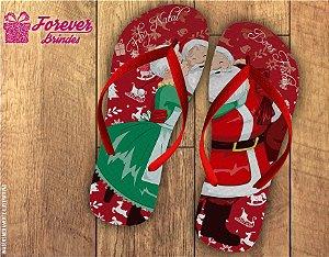 Chinelo De Natal Papai e Mamãe Noel