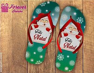 Chinelo De Natal Flocos De Neve