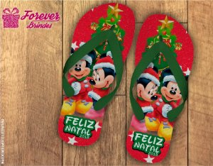 Chinelo De Natal Minnie e Mickey