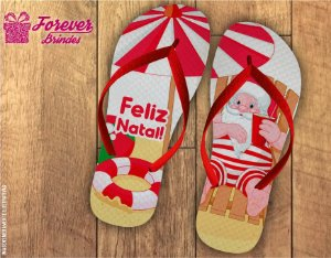 Chinelo De Natal Papai Noel Verão