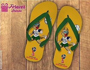 Chinelo Personalizado Copa Do Mundo