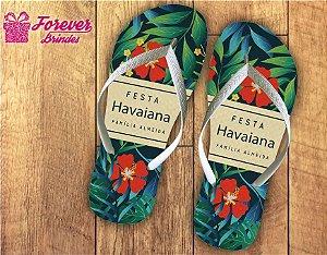 Chinelo Festa Havaiana Floral