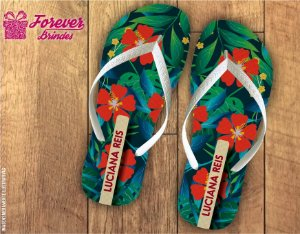 Chinelo Festa Havaiana Flores