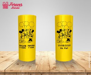 Copo Long Drink Mickey e Minnie Com Balões