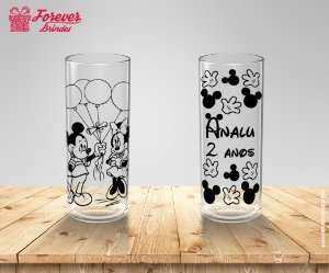 Copo Long Drink Mickey e Minnie Mãos