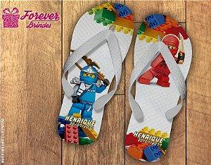 Chinelo De Aniversário Infantil Lego Ninja