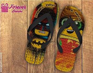 Chinelo De Aniversário Batman e Robin Lego